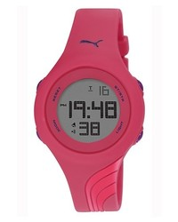 Puma Twist Digital Silicone Strap Watch 40mm Pink