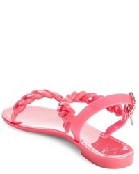 8692fa1ac1e8 ... Givenchy Nea Chain Logo Jelly Sandal
