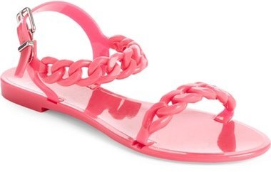 34b4bd458f33 ... Pink Sandals Givenchy Nea Chain Logo Jelly Sandal ...