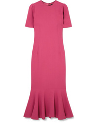 Dolce & Gabbana Fluted Stretch Crepe Midi Dress