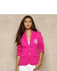 Hot Pink Silk Blazer