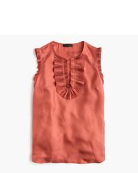 J.Crew Petite Margot Top In Silk