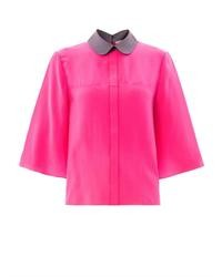 143a7ea3bffd9 ... Roksanda Hunter Contrast Collar Silk Blouse