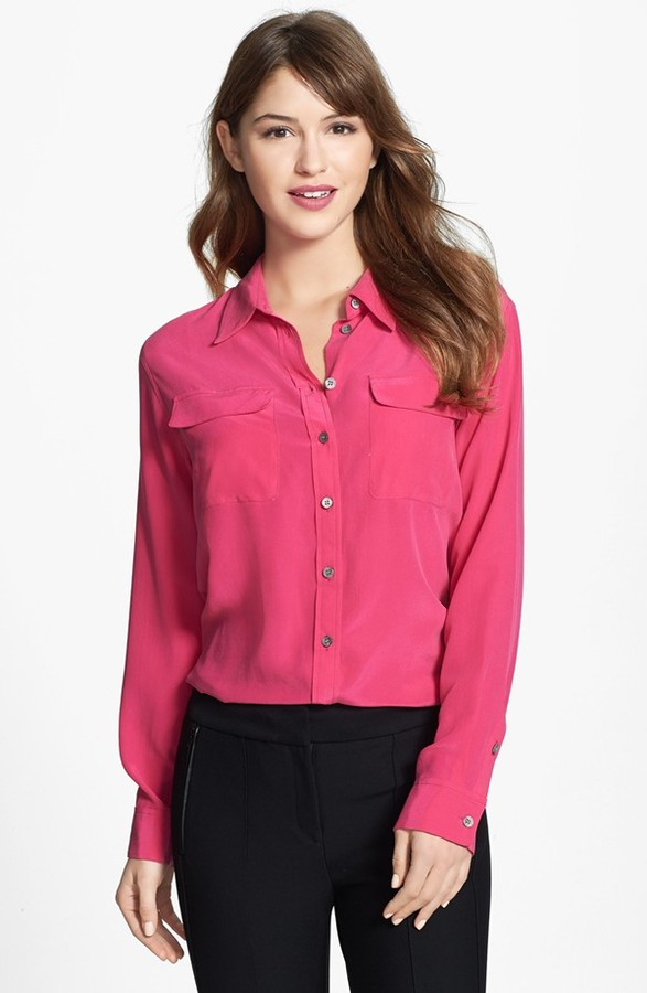 a68cf9c146001 ... Button Down Blouses Vince Camuto Two By Silk Utility Blouse ...