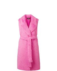 Hot Pink Sleeveless Coat