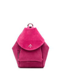 Manu Atelier Fuchsia Fernweh Mini Suede Backpack