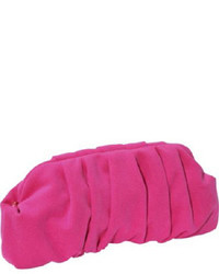 Hot Pink Suede Clutch
