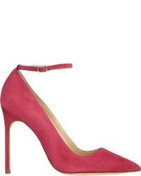 Hot Pink Suede Pumps