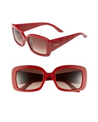 Dior Ladylady 2 Square Sunglasses Red Pink One Size