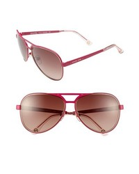 MICHAEL Michael Kors Michl Michl Kors 59mm Aviator Sunglasses Hot Pink One Size