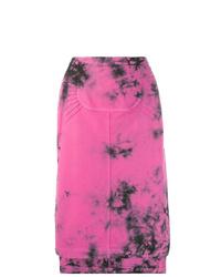 Hot Pink Tie-Dye Midi Skirt