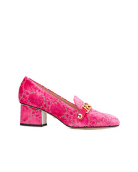 Hot Pink Velvet Pumps