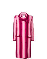 Moschino Striped Double Breasted Coat