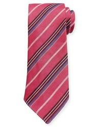 Hot Pink Vertical Striped Tie