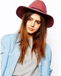 Asos Felt Fedora Hat Pink
