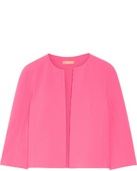 Michael Kors Michl Kors Collection Cropped Stretch Wool Jacket Pink