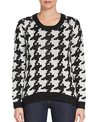Houndstooth Crew-neck Sweater