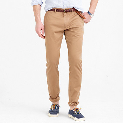 J.CREW PANT IN STRETCH - Chino - river brown uMEfZo