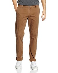 Clean Chino Slim Tapered Stretch Twill Gmd Trouser Brown