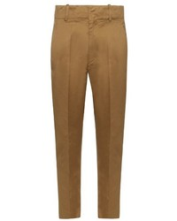 Isabel marant toile high rise tapered leg cotton chino trousers medium 724589
