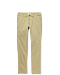 Nn07 Marco Slim Fit Gart Dyed Stretch Cotton Twill Chinos