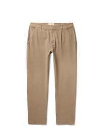 Folk Signal Pleated Gart Dyed Cotton Trousers