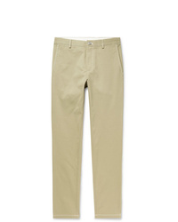Burberry Slim Fit Cotton Twill Trousers