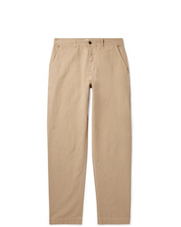 Universal Works Tapered Linen And Cotton Blend Trousers
