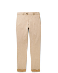 Tod's Tapered Solaro Cotton Blend Twill Trousers