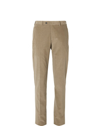 Canali Light Brown Kei Cotton Blend Corduroy Suit Trousers