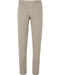 Boglioli Brown Slub Cotton And Linen Blend Suit Trousers