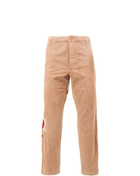 Gucci Embroidered Dragon Chinos