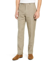 Khaki Linen Dress Pants