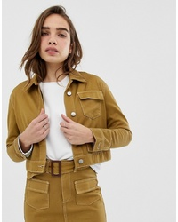 Northmore Denim Organic Cotton Cropped Utility Jacket
