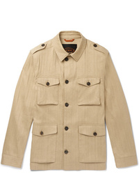 Tod's Sahariana Washed Cotton And Linen Blend Field Jacket