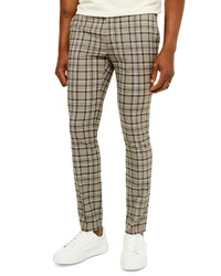 Khaki Plaid Chinos