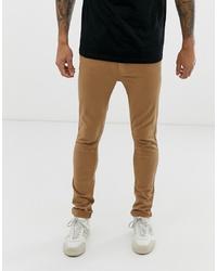 Burton Menswear Super Skinny Jean In Tan