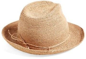 ... Helen Kaminski Raffia Crochet Packable Sun Hat ... 753d0e4868a