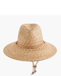 J.Crew Wide Brim Hat With Leather Trim