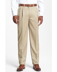 JB Britches Pleated Super 100s Worsted Wool Trousers