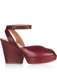 Leather heeled sandals original 8076977