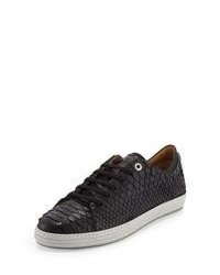 Leather low top sneakers original 545976