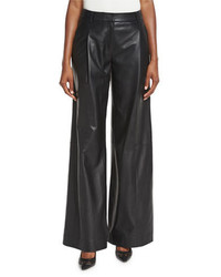 Leather Wide Leg Pants