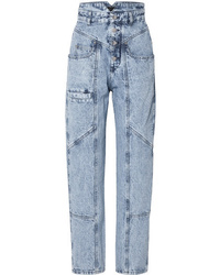 Light Blue Acid Wash Boyfriend Jeans