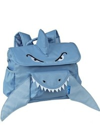 Bixbee Boys Shark Water Resistant Backpack Blue