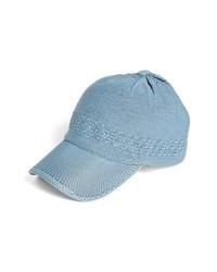 Collection XIIX Crochet Baseball Cap Breezy Blue One Size
