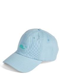 Vineyard Vines Needlepoint Whale Baseball Cap Blue