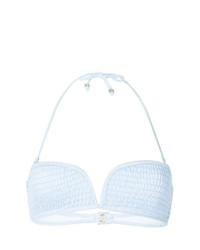 Suboo Shirred Strapless Halter Bikini Top