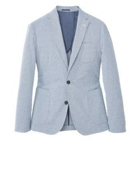 Mango Anafi Suit Jacket Sky Blue