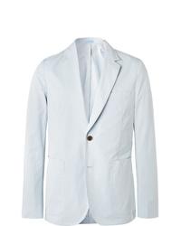 Paul Smith Sky Blue Soho Slim Fit Unstructured Cotton Blazer